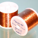 Orange Metallic thread 100 yard
