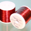 Metallic thread 100 yard colour Red