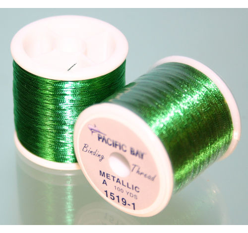 Green Metallic thread 100 yard