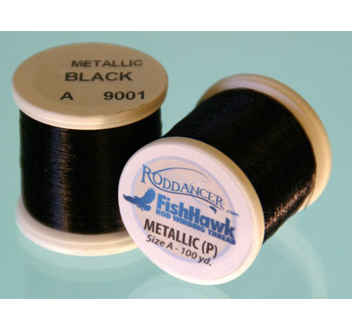 Metallic P thread 100 meter Spool Black