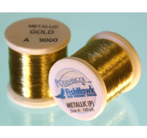 Metálico P hilo 100 metros Carrete de Oro
