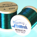 Metallic P thread 100 meter Spool Aquamarine
