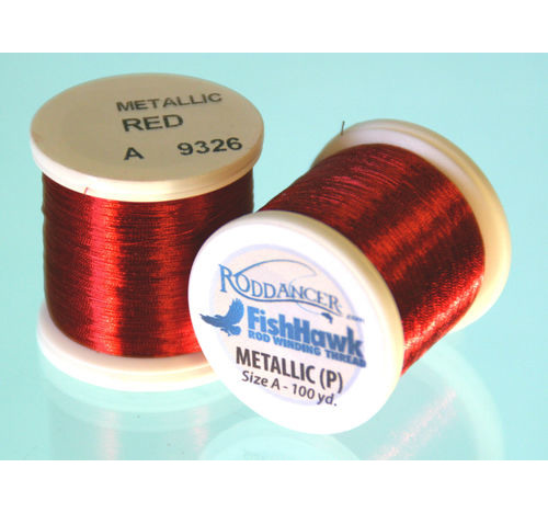 Metallic P thread 100 meter Spool RED