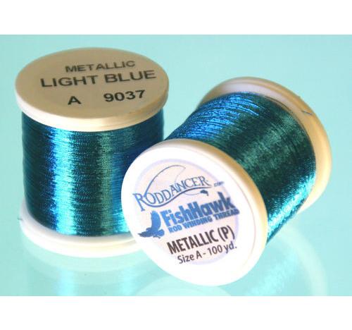 Metálico P hilo 100 metros Carrete azul claro