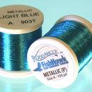 Metallic P thread 100 meter Spool Light Blue
