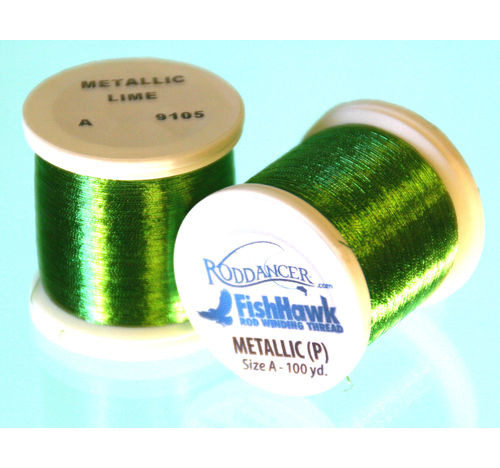 Metallic P thread 100 meter Spool Lime Green