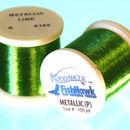Metálico P hilo 100 metros Carrete verde lima