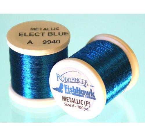 Metallic P thread 100 meter Spool ELECTRIC BLUE