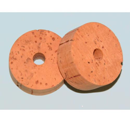 Paquete de 100 anillos de corcho de 6 mm de calibre de Super Grado