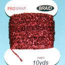 PROWRAP Metallic Braid Red