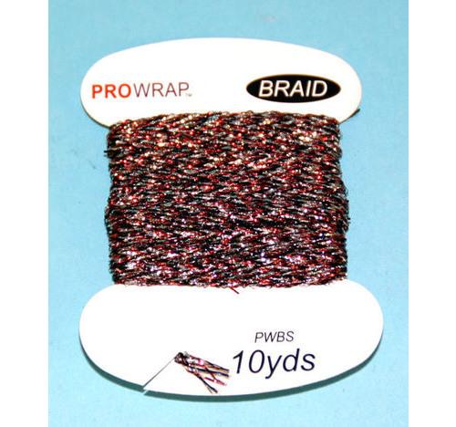 PROWRAP Metallic Braid Red/Silver/Black