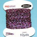 PROWRAP Metallic Braid Fuchsia/Silver/Black