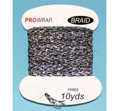 PROWRAP Metallic Braid Silver / Black