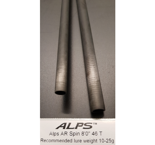 ALPS AR 8ft 2pc light spin blank, polished finish, 8-25g