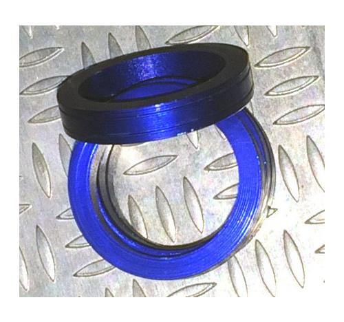 Aluminum Trim Ring Blue 25 OD 13 bore