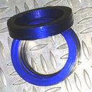Aluminum Trim Ring Blue 25 OD 17 bore