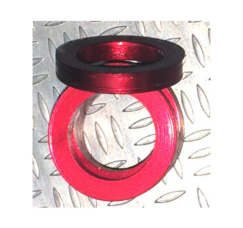 Aluminum Trim Ring Red 25 OD 13 bore