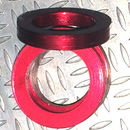 Aluminum Trim Ring Red 25 OD 17 bore