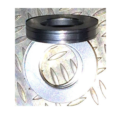 Aluminum Trim Ring Silver 25 OD 13 bore