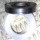 Aluminum Trim Ring Silver 25 OD 13 bore