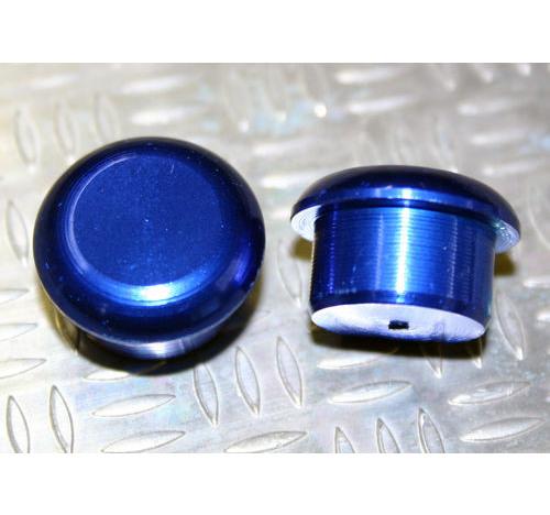 Tapón de apoyo de aluminio Azul 15mm diámetro de tallo