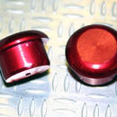 Tapón de apoyo de aluminio ROJO 12mm diámetro de tallo