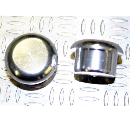 Tapón de apoyo de aluminio Plateado 12mm diámetro de tallo