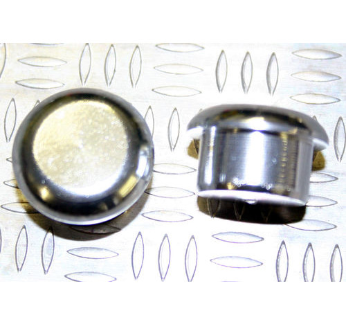 Tapón de apoyo de aluminio Plateado 15mm diámetro de tallo