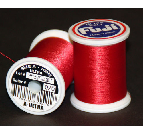 Fuji Ultra Poly 100m Spool CANDY APPLE RED A