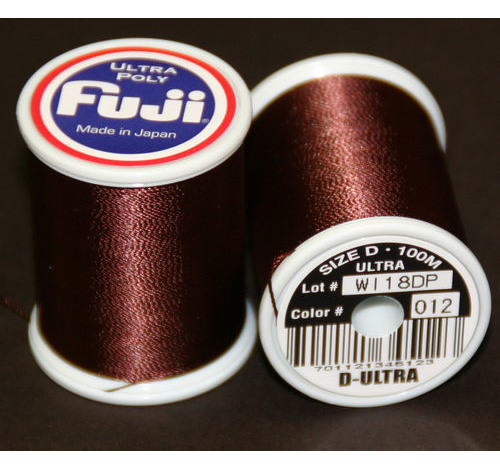 Fuji Ultra Poly 100m Spool DARK BROWN D