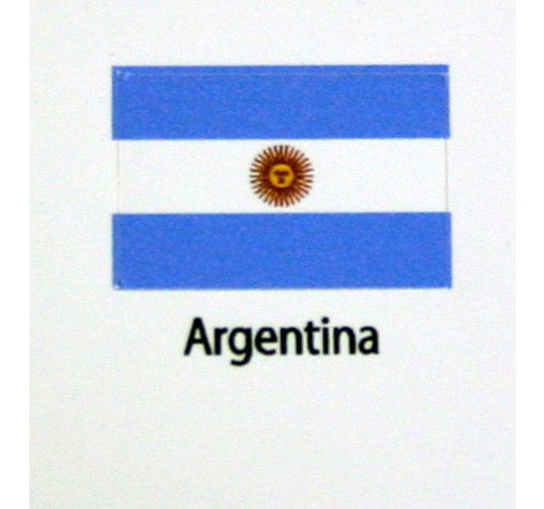 Argentina Flag decal 3 pack