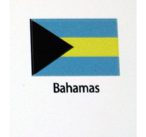 Bahamas Flag decal 3 pack