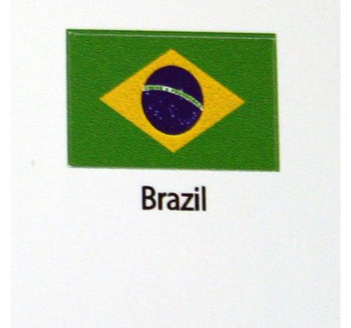 Brazil Flag decal 3 pack