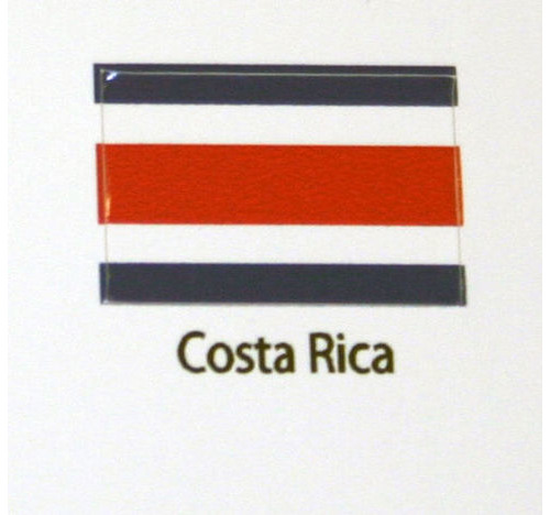 Costa Rica Flag decal 3 pack