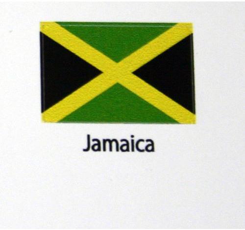 Jamaica Flag decal 3 pack