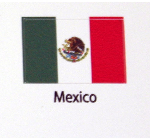 Mexico Flag decal 3 pack
