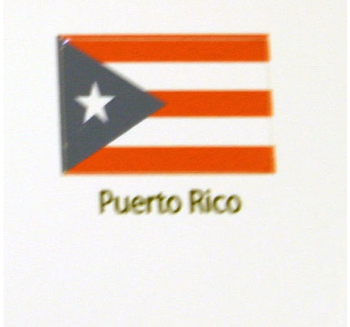 Puerto Rico Flag decal 3 pack
