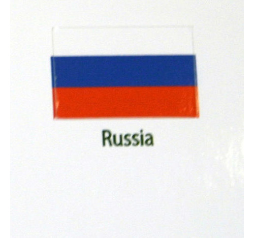 Russia Flag decal 3 pack