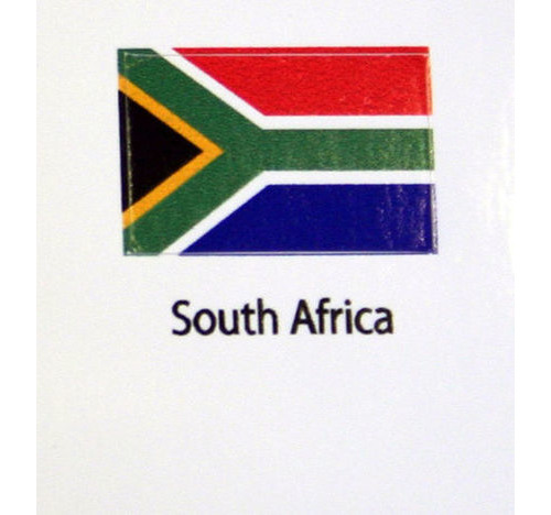 South Africa Flag decal 3 pack