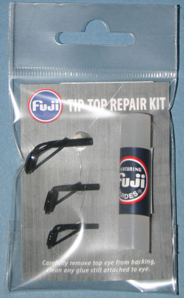 Spinning / Course Rod Tip top kit Black finish tips