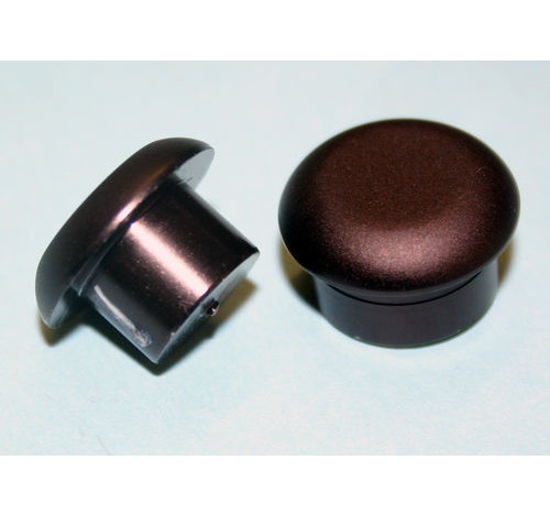 Al Butt Cap MATT BLACK 10mm Stalk diameter