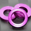 Aluminum Trim Ring Purple 22 OD 13 bore