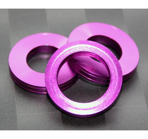 Aluminum Trim Ring Purple 25 OD 15 bore