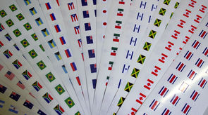 International Flag Decals
