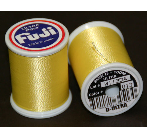 Fuji Ultra Poly 100m Spool LEMON YELLOW D