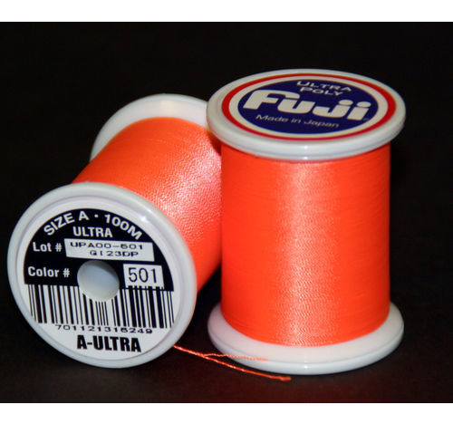 Fuji Ultra Poly 100m Spool NEON ORANGE D