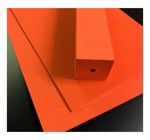 Duplon 6 mm sheet x 230 x 350 Neon Orange