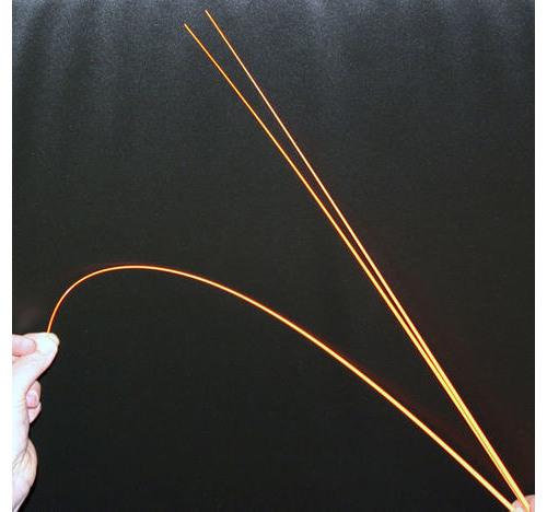 Punta cristal naranja pintada 0,9 mm punta x 5,0 mm parte inferior x 600mm longitud