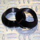 Tope de enrollado cónico de aluminio NEGRO DI=12, DE=18, G=5