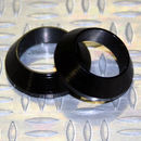 Tope de enrollado cónico de aluminio NEGRO DI=16, DE=22, G=5,5
